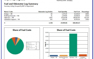 Fuel And Odometer Log Summary By Department