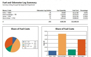Fuel and Odometer Log Summary