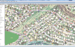 GIS MapViewer Signs on a Map