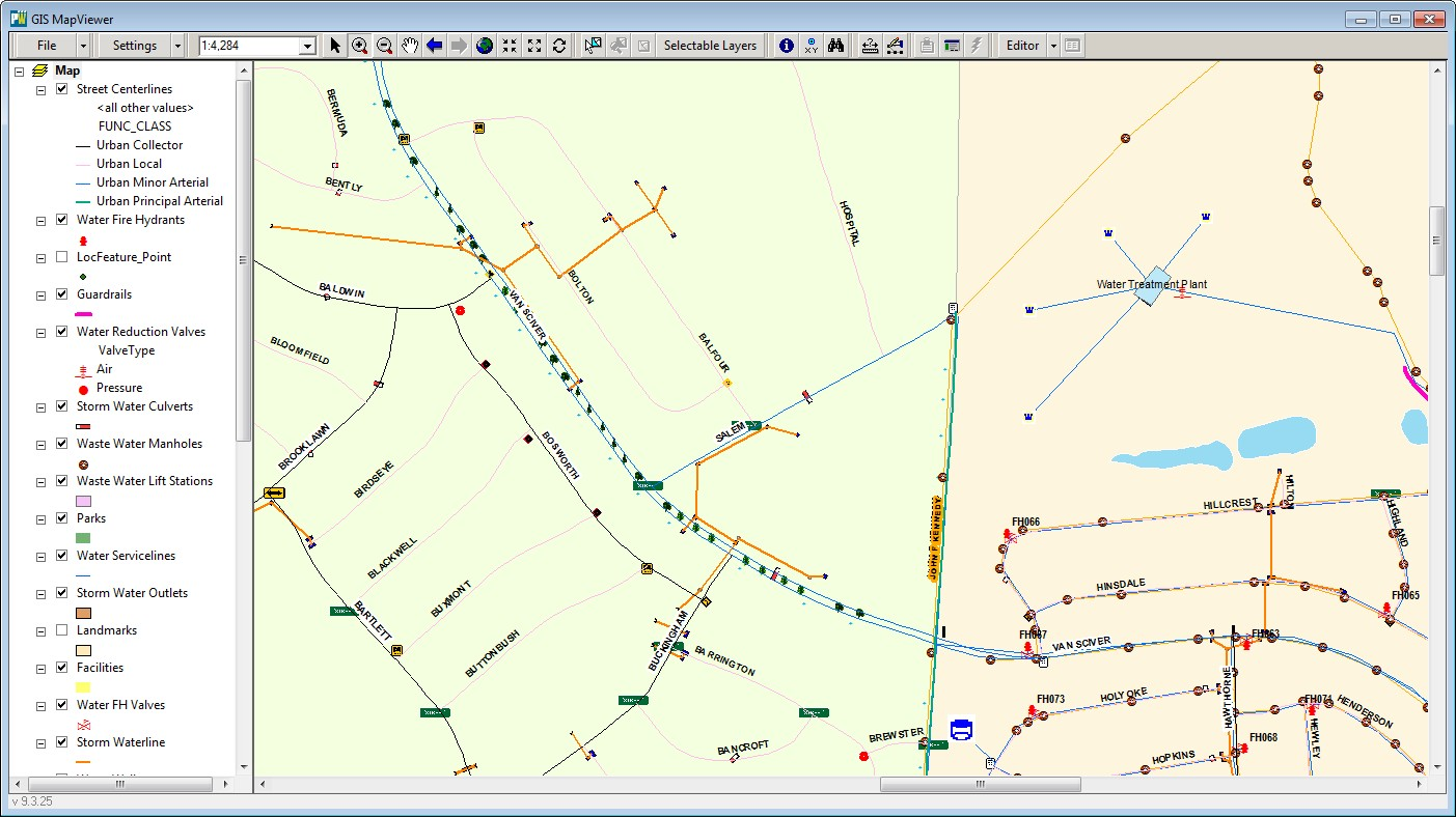 Assets on MapViewer